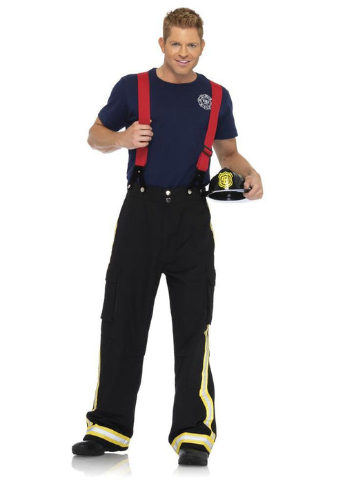 Leg Avenue Costumes BLACK/RED / MED/LGE Men's Fire Captain Costume