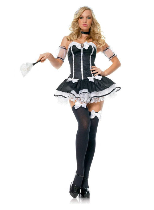 Leg Avenue Costumes BLACK/WHITE / LARGE French Maid Costume
