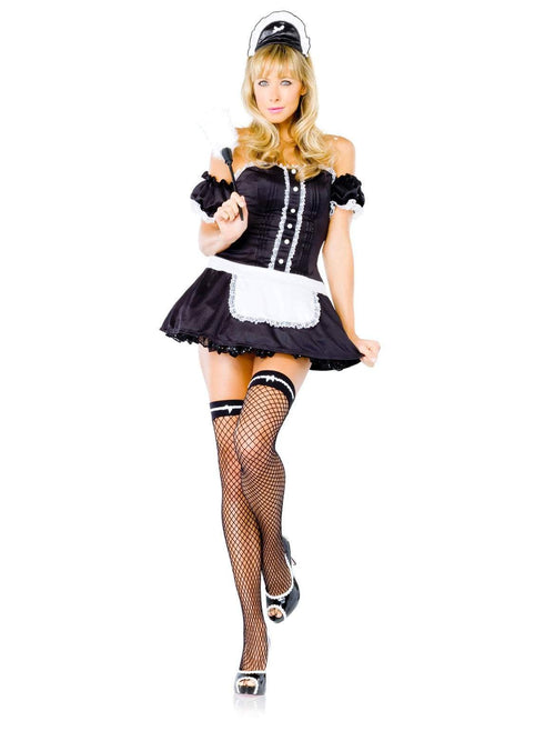 Leg Avenue Costumes BLACK/WHITE / MED/LGE Frisky Fifi French Maid Costume