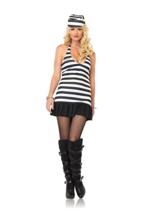 Leg Avenue Costumes BLACK/WHITE / MED/LGE Warden's Mistress Costume