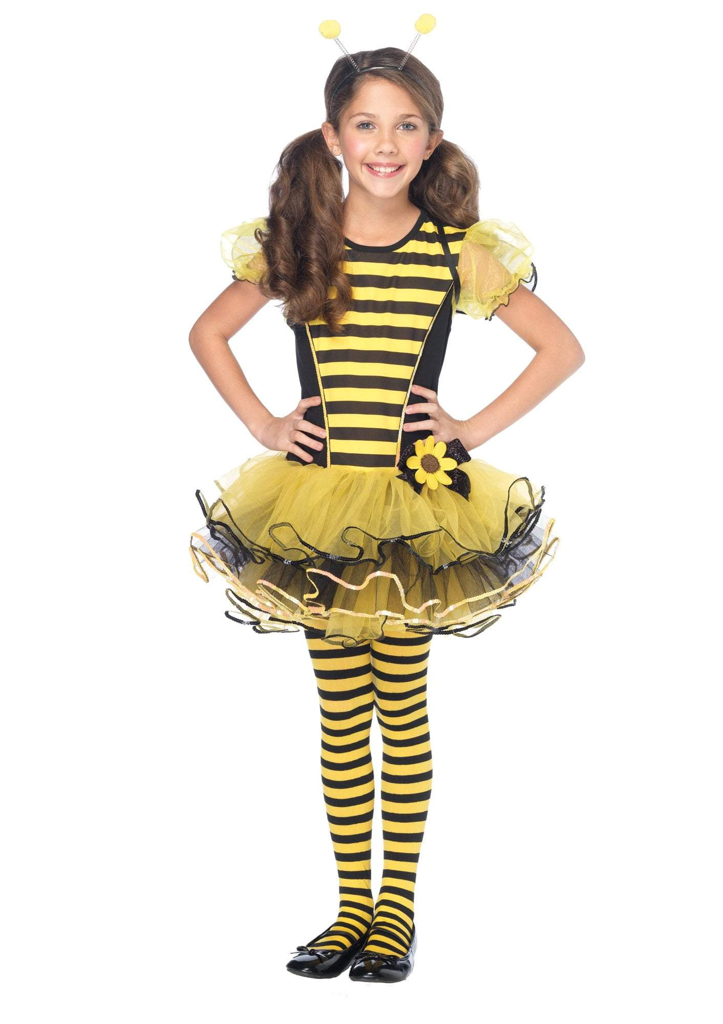 Leg Avenue Costumes BLACK/YELLO / LARGE Girls Buzzzy Bee Dress Costume