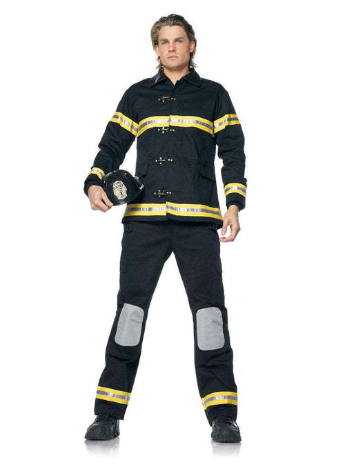 Leg Avenue Costumes BLACK/YELLO / MED/LGE Fireman's Costume