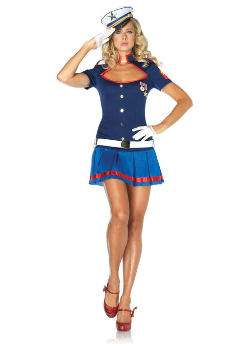 Leg Avenue Costumes BLUE / MED/LGE Adult Semper Fi Sweetie Costume