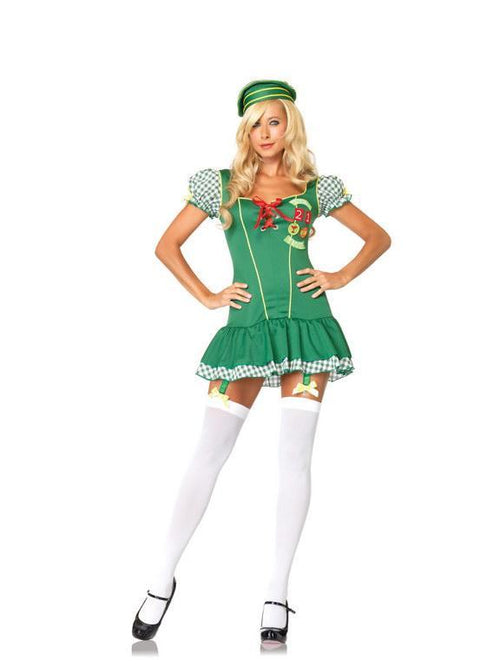 Leg Avenue Costumes GREEN / SML/MED Trouble Scout Costume