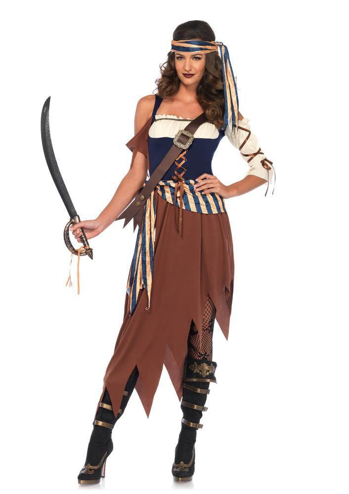 Leg Avenue Costumes LARGE Adult Caribbean Castaway Pirate Costume
