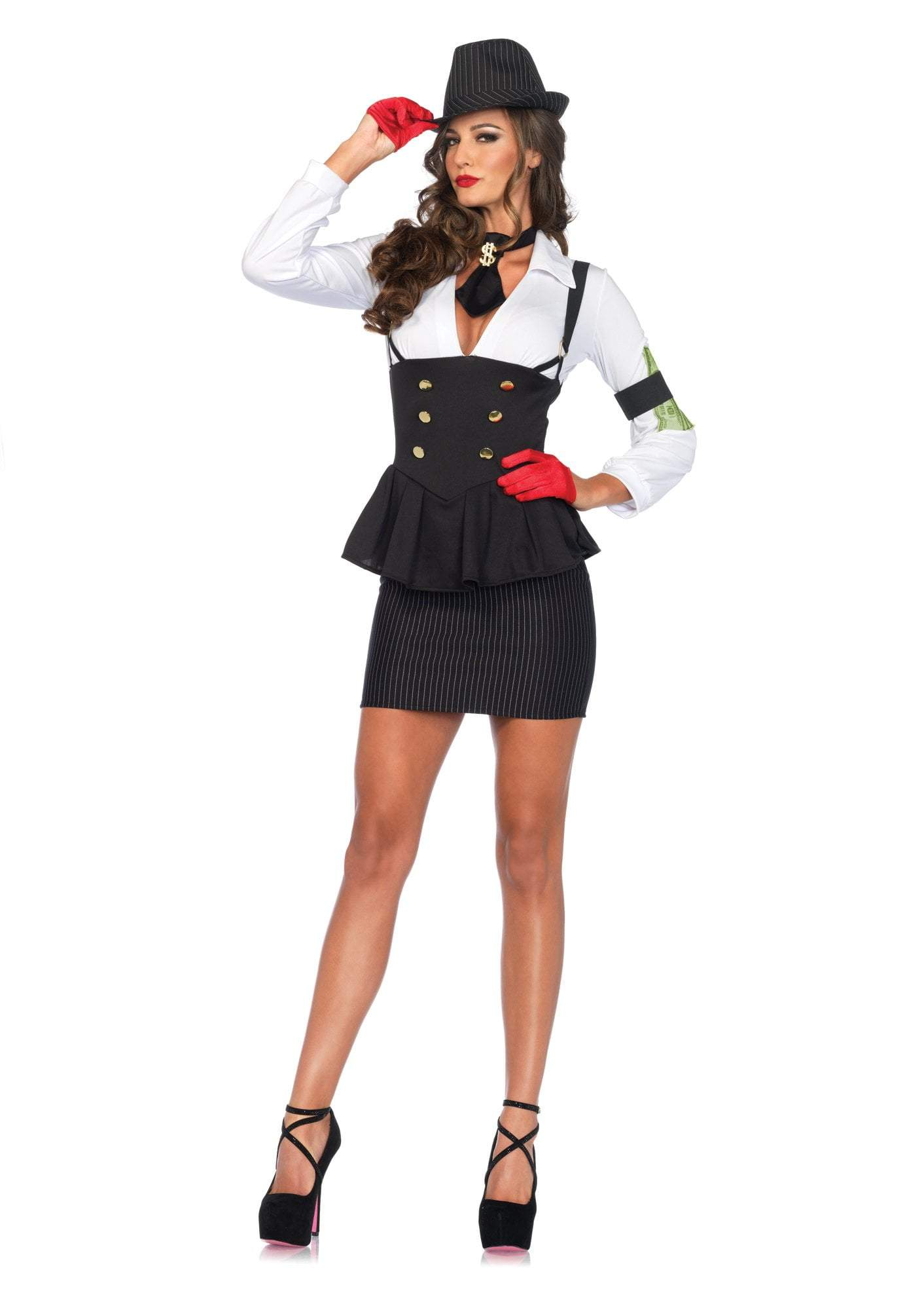 Leg Avenue Costumes LARGE Adult Machine Gun Molly Gangster Costume