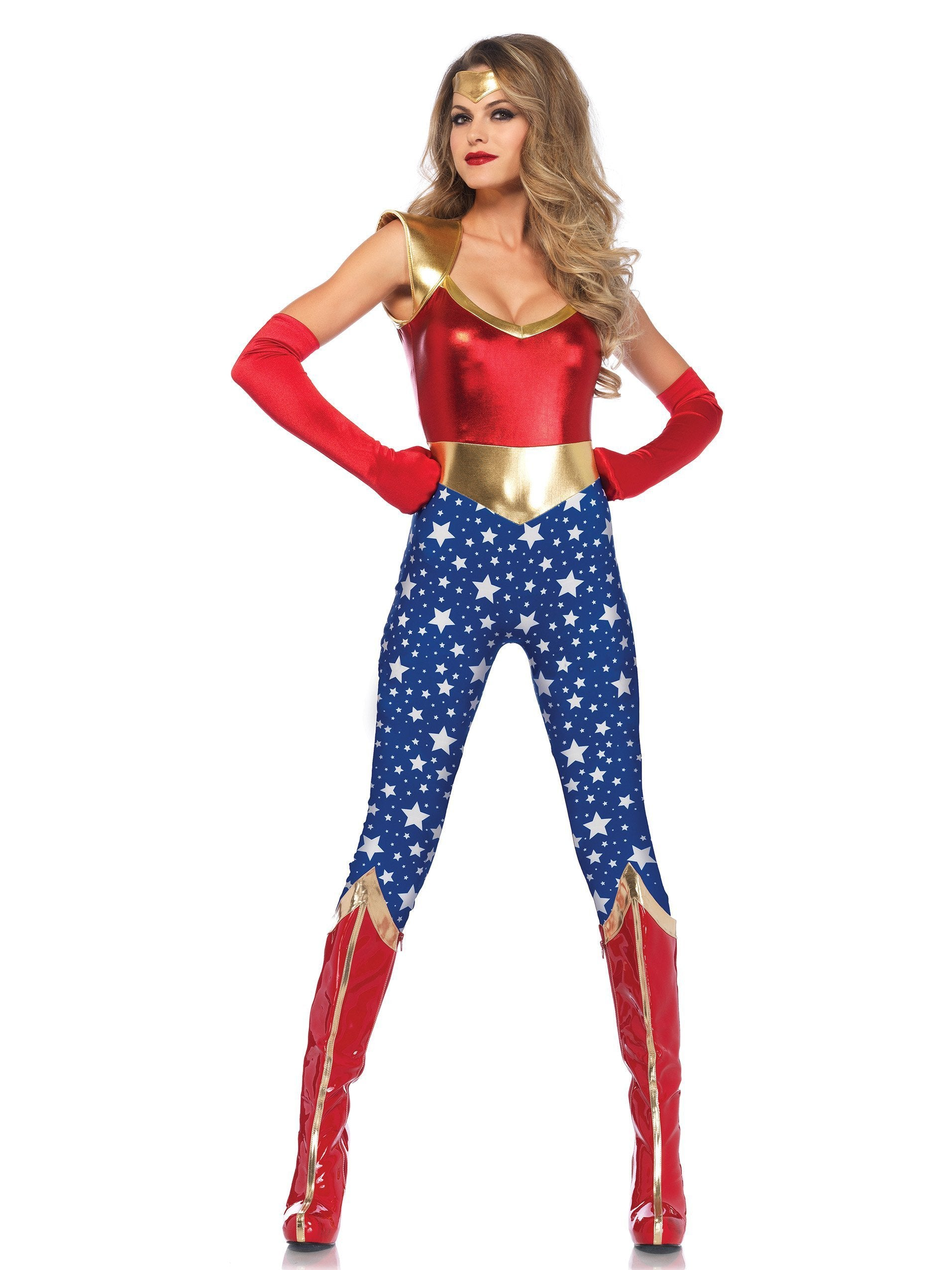 Leg Avenue Costumes LARGE Adult Sensational SuperHero Costume