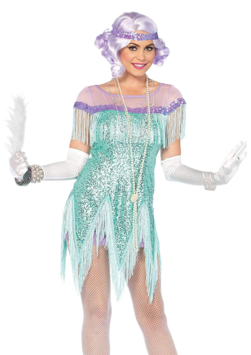 Leg Avenue Costumes LARGE / AQUA Adult Roaring 20s Trixie Flapper Costume