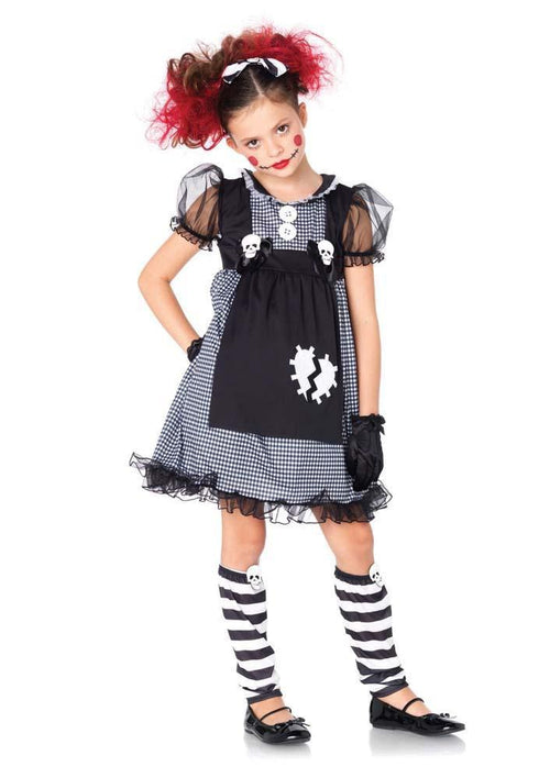 Leg Avenue Costumes LARGE / BLACK/GREY Girls Dark Dollie Costume