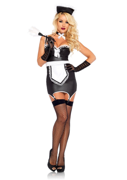 Leg Avenue Costumes LARGE / BLACK/WHITE Mischievous Maid Costume
