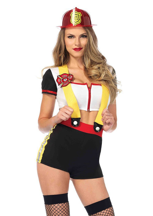 Leg Avenue Costumes LARGE Code Red Cutie Firefighter Costume