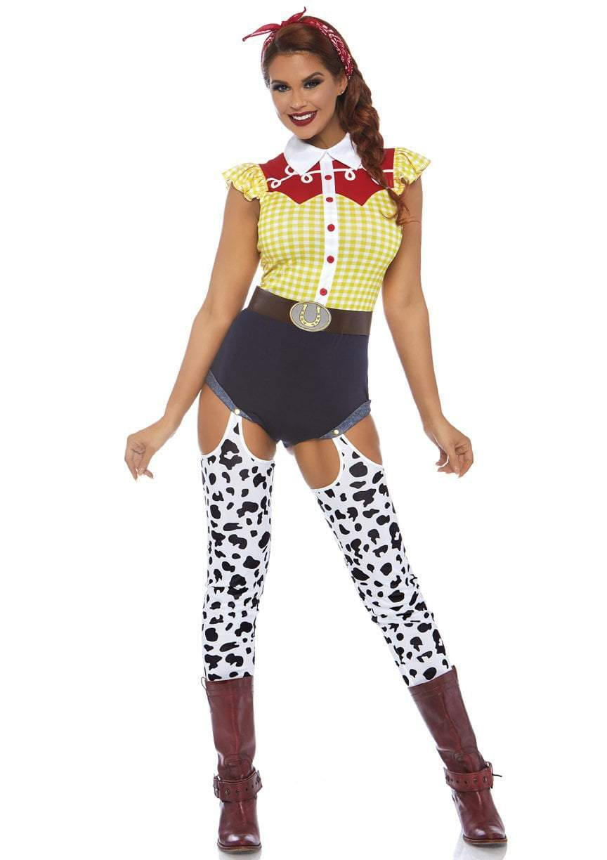 Leg Avenue Costumes LARGE Giddy Up Cowgirl Costume