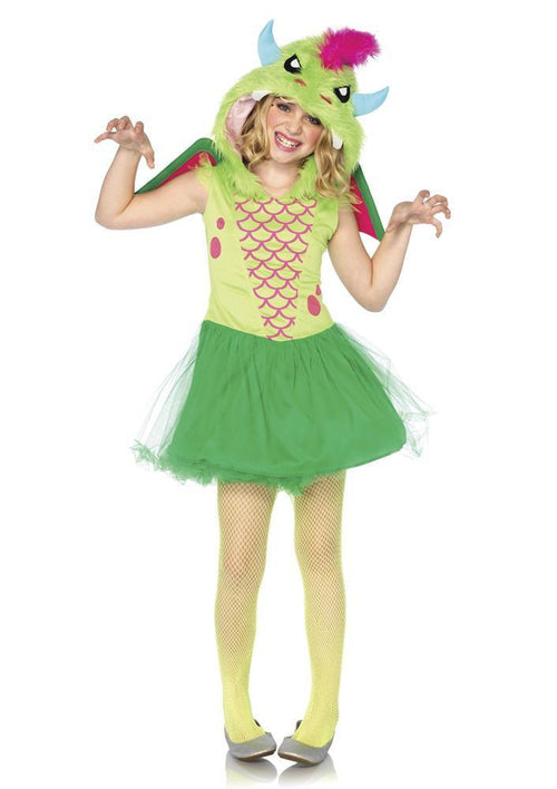 Leg Avenue Costumes LARGE / GREEN Girls Magic Dragon Costume