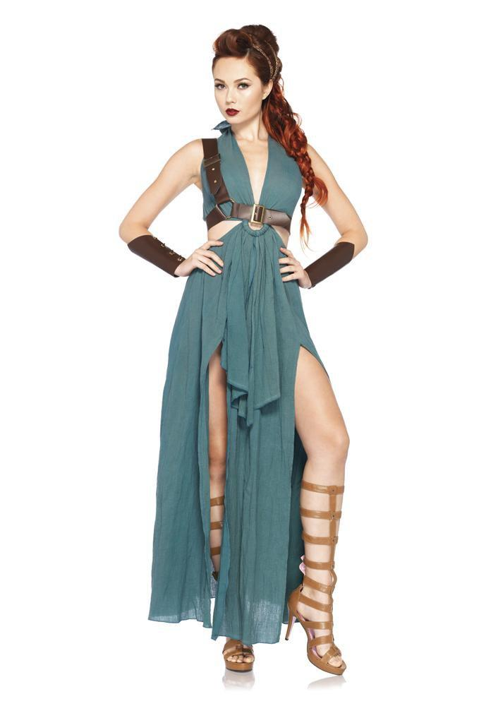 Leg Avenue Costumes LARGE / GREEN Womens Warrior Maiden Costume