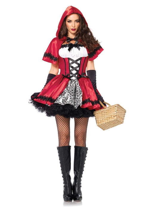 Leg Avenue Costumes LARGE / RED/WHITE Adult Glamorous Red Riding Hood Costume