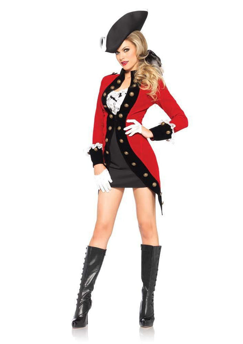 Leg Avenue Costumes LARGE Sexy Rebel Red Coat Costume -