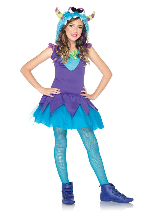 Leg Avenue Costumes LARGE / TEAL/PURPLE Girls Cross-Eyed Carlie Costume