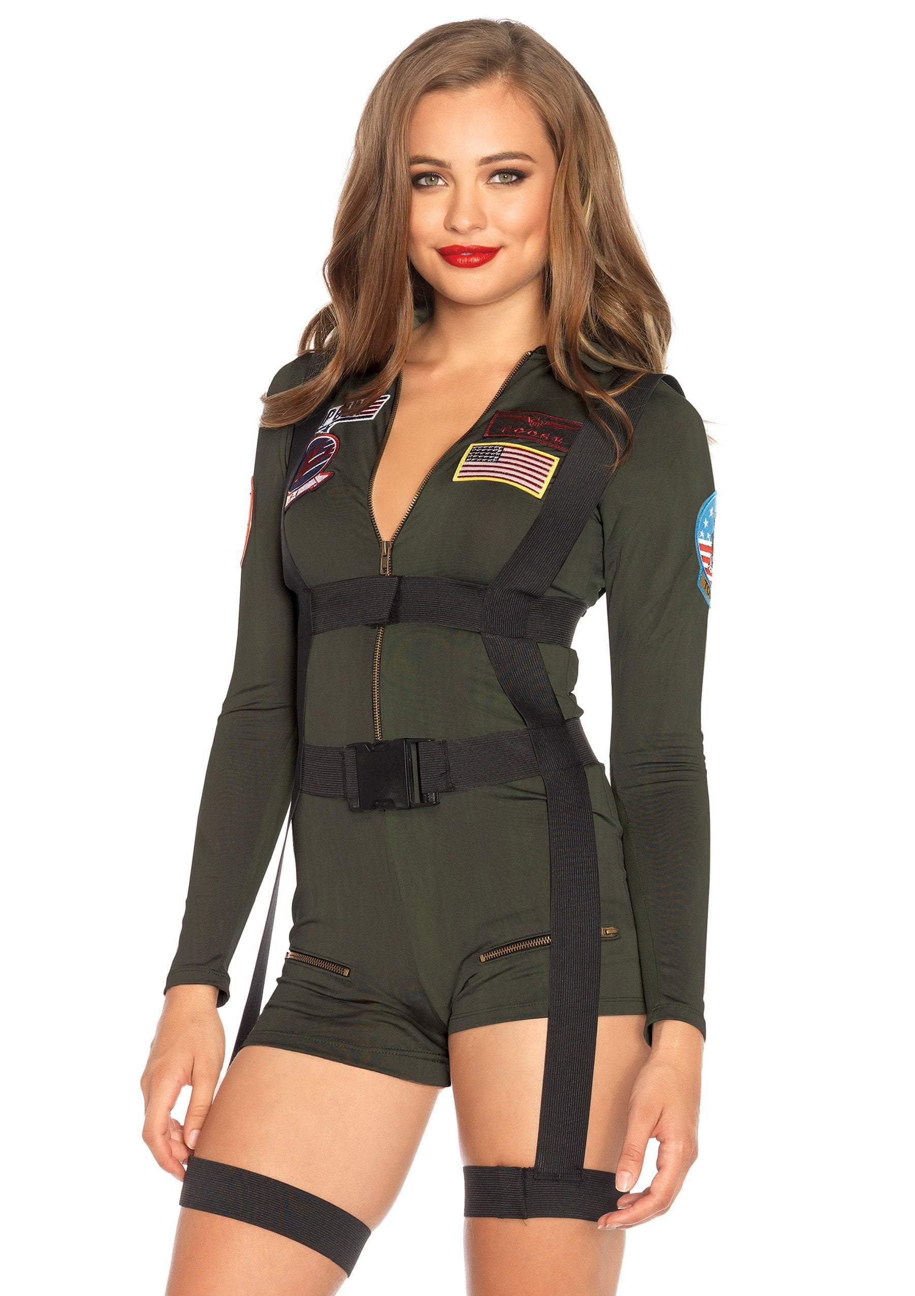 Leg Avenue costumes LARGE Top Gun Romper Costume