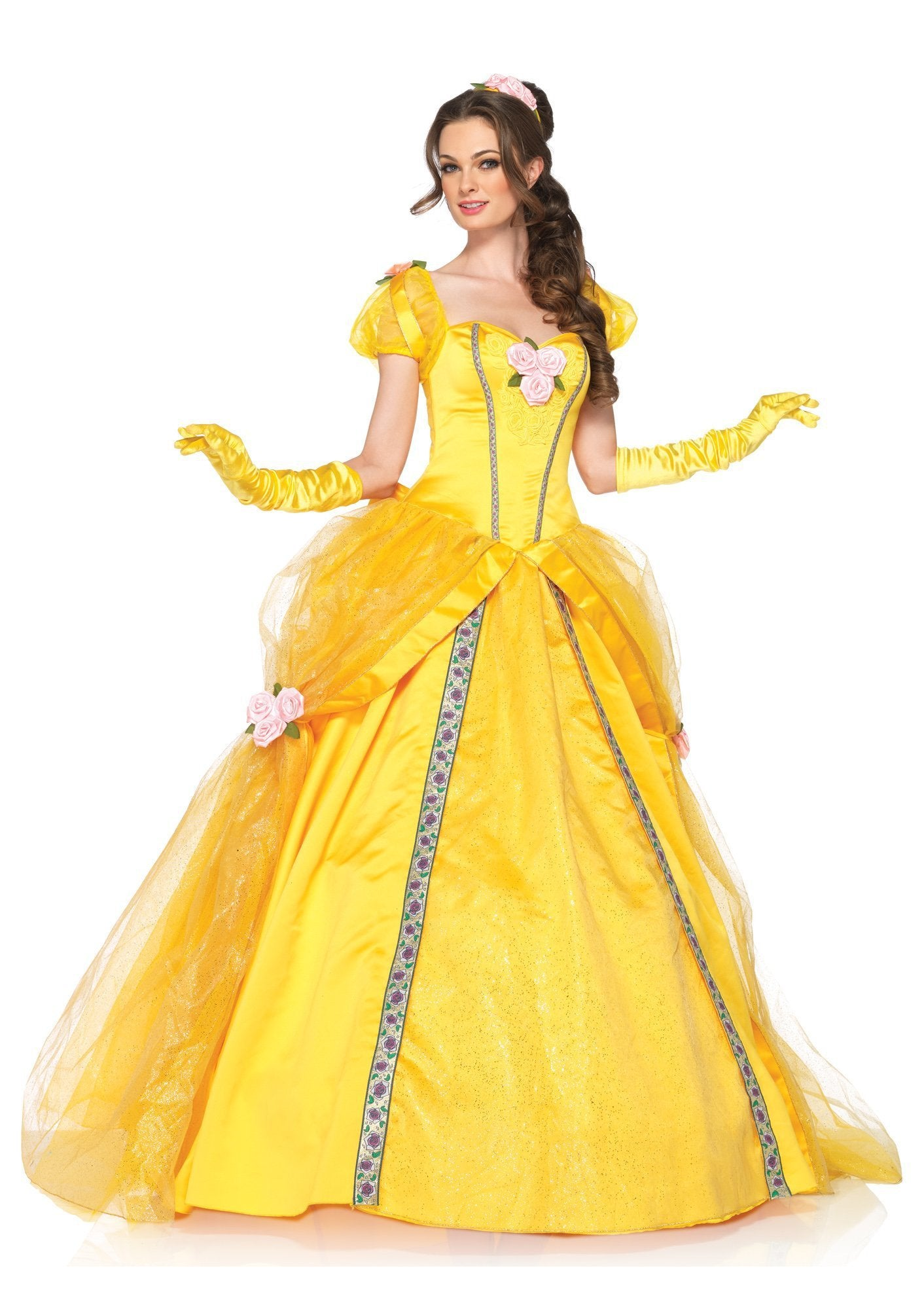 Leg Avenue Costumes LARGE / YELLOW Deluxe Belle Costume - Beauty & the Beast