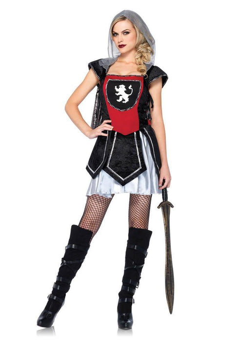 Leg Avenue Costumes MED/LGE / BLACK/RED Royal Knightess Costume