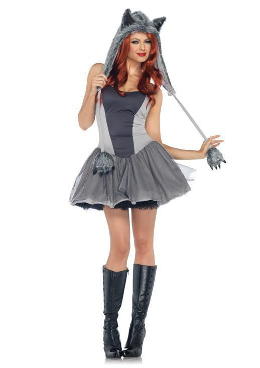 Leg Avenue Costumes MED/LGE / GREY Gorgeous Grey Wolf Costume