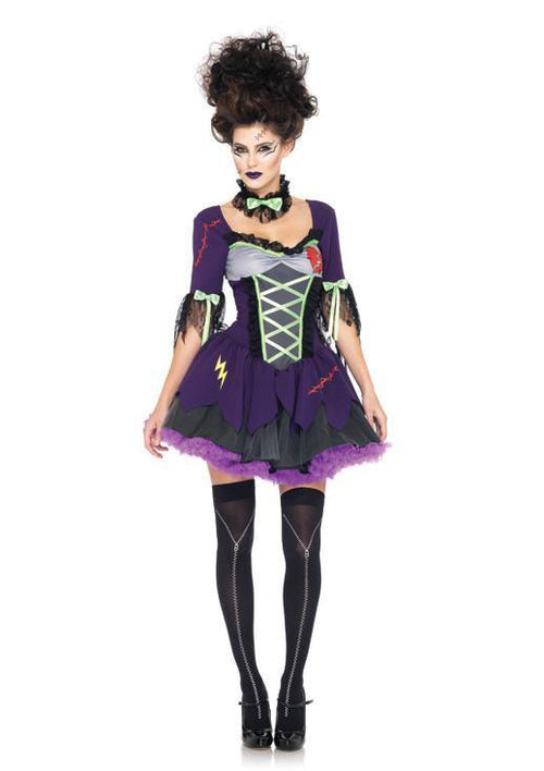 Leg Avenue Costumes MED/LGE / PURPLE Frankie's Bride Costume