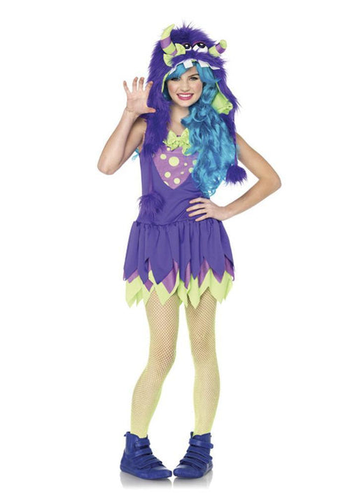 Leg Avenue Costumes MED/LGE / PURPLE Teen Girls Gerty Growler Costume