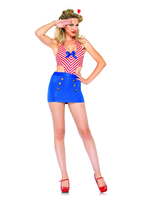 Leg Avenue Costumes MED/LGE / RED/BLUE Shore Leave Sailor Costume