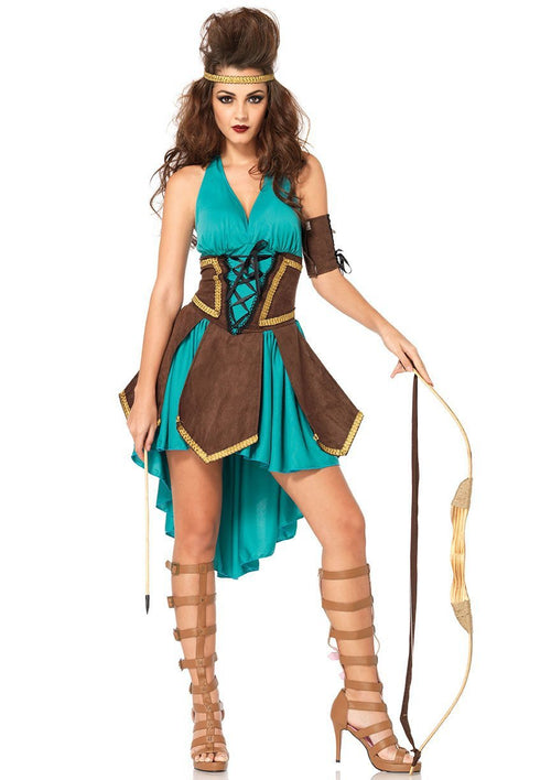 Leg Avenue Costumes MED/LGE / TURQUOISE Sexy Celtic Warrior Costume