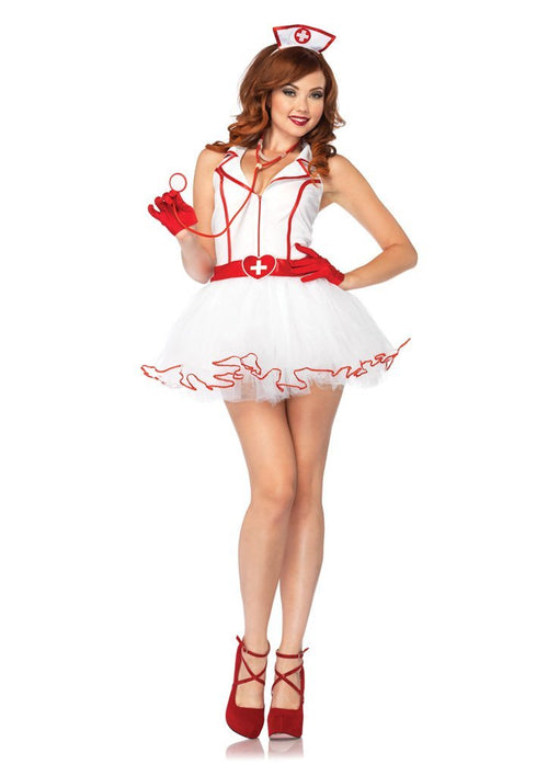 Leg Avenue Costumes MED/LGE / WHITE Adult Ravishing RN Costume