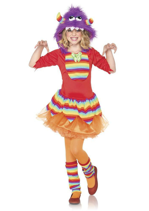 Leg Avenue Costumes MEDIUM / PURPLE/RED Girls Rainbow Monster Costume