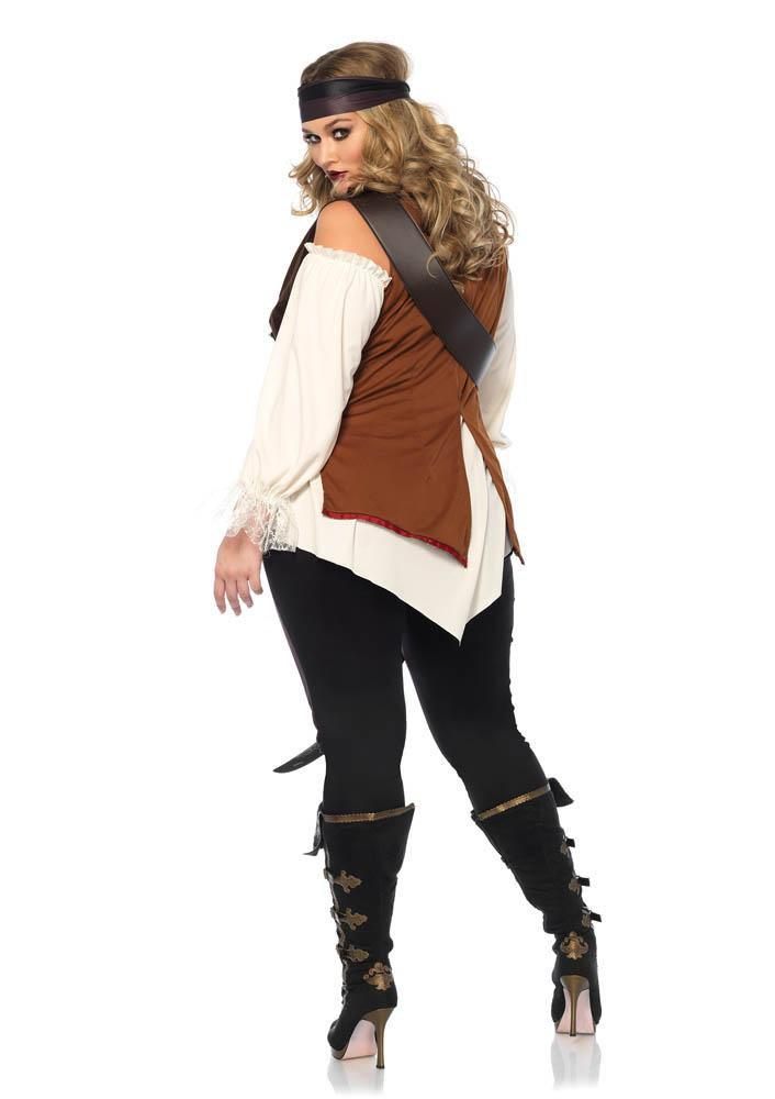 Leg Avenue Costumes Plus Size Captain Blackheart Pirate Costume