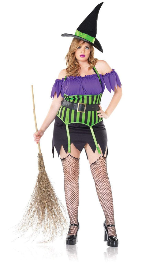 Leg Avenue Costumes PURPLE/NGRN Spellbound Witch Plus Costume