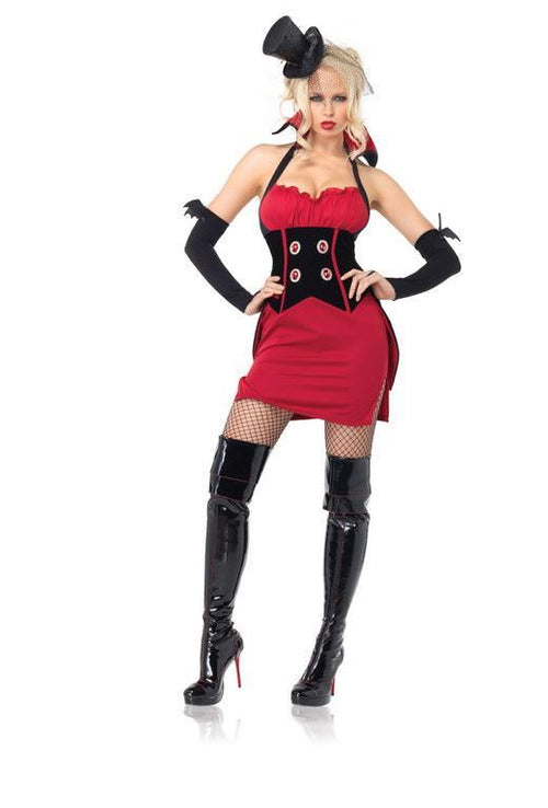 Leg Avenue Costumes RED/BLACK / MED/LGE Coffin Queen Vampire Costume