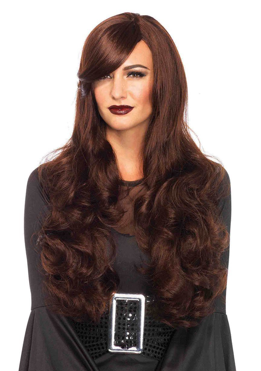 Leg Avenue Wigs BROWN Sexy Long Wavy Wig