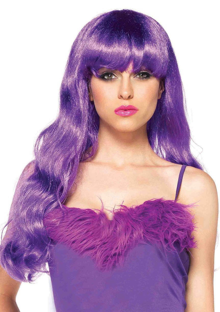 Leg Avenue Wigs O/S / NEON PURPLE Neon Star Long Wavy Wig