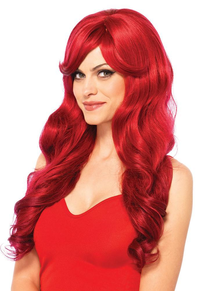 Leg Avenue Wigs RED Sexy Long Wavy Wig