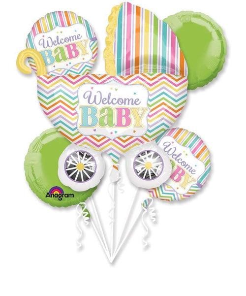Mayflower Balloons Baby Brights Balloon Bouquet - Baby Shower