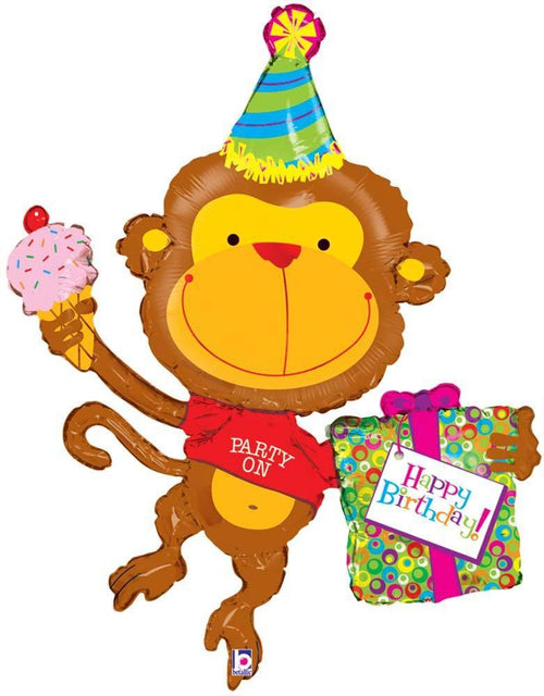 Birthday Monkey Supershape Balloon 49