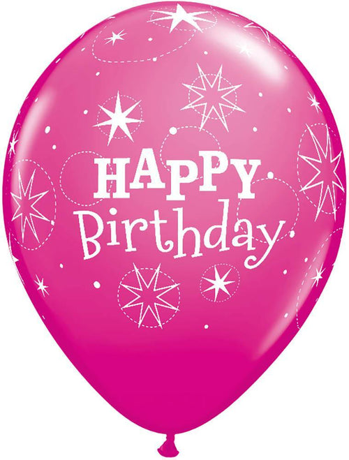 Mayflower Balloons Birthday Sparkle Pink/Berry Balloon
