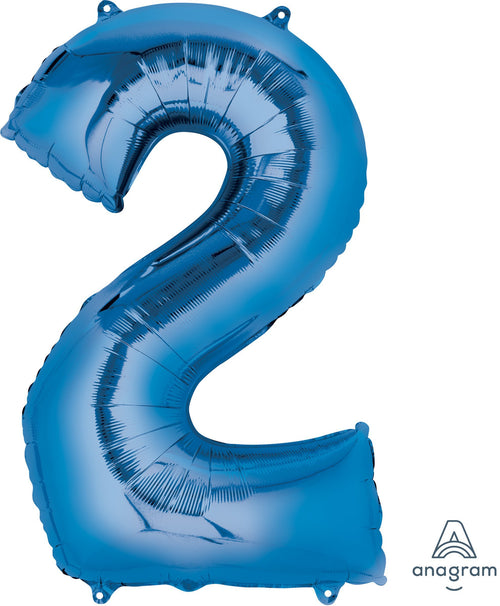 Mayflower Balloons Blue 2 Number Jumbo Balloon 33""