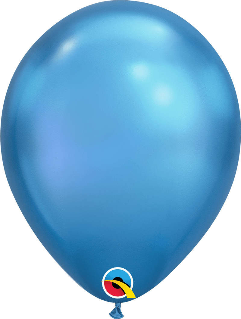 "Mayflower Balloons Chrome Blue 11"" Latex Balloon"