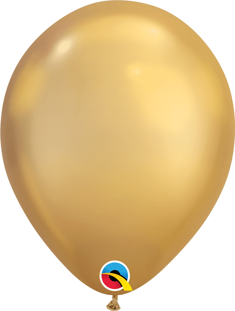 "Mayflower Balloons Chrome Gold 11"" Latex Balloon"