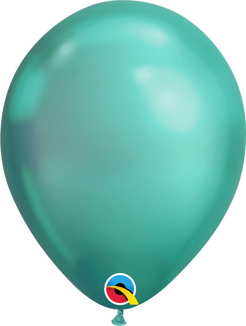"Mayflower Balloons Chrome Green 11"" Latex Balloon"
