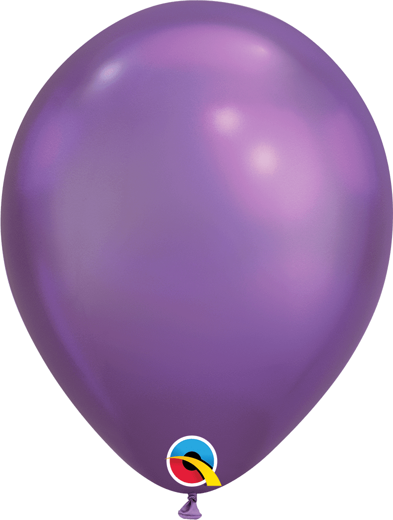"Mayflower Balloons Chrome Purple 11"" Latex Balloon"