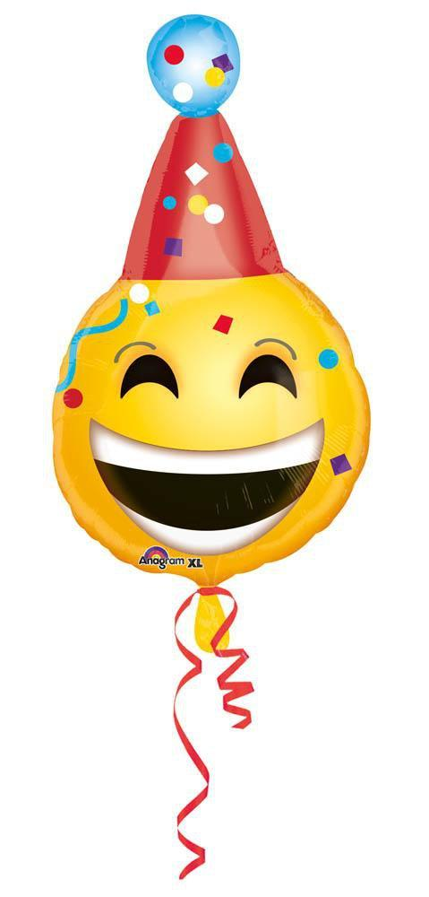 Mayflower Balloons Emoticon Birthday Balloon 25""