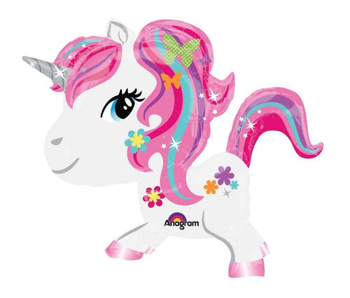 Mayflower BALLOONS Fancy Unicorn Air Walker Balloon 31in