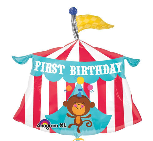 Mayflower Balloons Fisher Price Circus Tent 1st Birthday Balloon 23""
