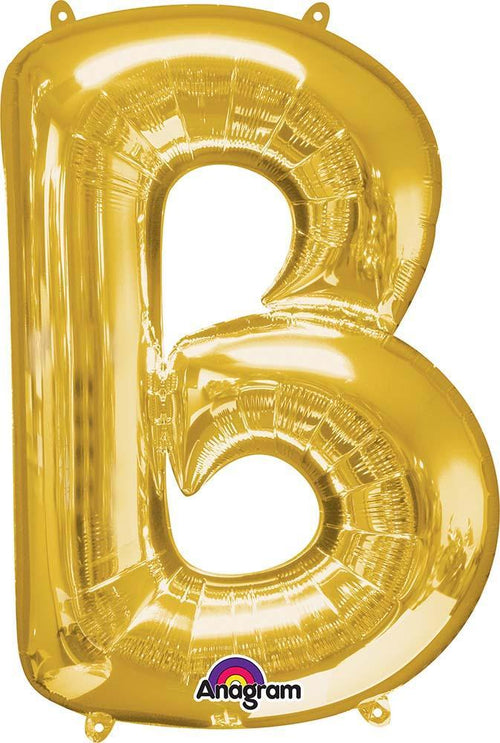 "Mayflower Balloons Gold ""B"" Letter Balloon 34"""