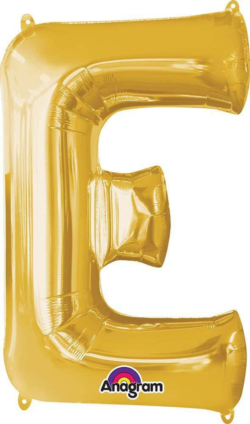 "Mayflower Balloons Gold ""E"" Letter Balloon 32"""